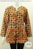 Aneka Baju Batik Wanita Dewasa, Blus Mekar Bawah Motif Bagus Nan ELegan Proses Printing, Cocok Buat Seragam Kerja [BLS7300P-L]