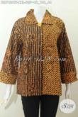 Batik Blus Tulis Premium Spesial Untuk Wanita Gemuk, Baju Batik Elegan Kwalitas Istimewa Model seset Kerah Dan Samping Daleman Full Tricot, Cocok Untuk Acara Formal [BLS7426TF-XXL]