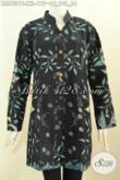 Batik Blus Solo Jawa Tengah, Pakaian Batik Model Sashi Kwalitas Bagus Dengan Kerah Shanghai Nan Elegan, Tampil Mempesona [BLS7501T-XXL]