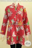 Jual Batik Blus Sashi Istimewa, Aneka Pakaian Batik Wanita Muda Dan Dewasa Kerah Shanghai Kancing Depan Proses Printing Harga 130K [BLS7504P-XL]