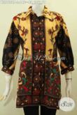 Blus Pastion Bahan Batik Motif Klasik Model Kerah Lengan Paspol, Baju Batik Istimewa Yang Bikin Wanita Mempesona [BLS7558P-L]