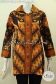 Baju Batik Cewek Modis Motif Elegan Berkelas, Pakaian Batik Model Kerah Proses Kombinasi Tulis, Pas Banget Untuk Seragam Kerja [BLS7619BT-M]