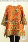 Produk Baju Batik Wanita 2017, Hadir Dengan Model Kotak Motif Trendy Printing Untuk Santai Dan Ke Kantor [BLS7629P-M]