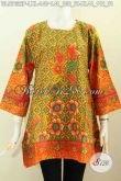 Pakaian Batik Jawa Etnik, Baju Batik Solo Jawa Tengah Trend Model 2017, Pakaian Batik Kotak Wanita Dewasa Tampil Mempesona [BLS7632P-XL]
