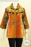 Online Shop Pakaian Batik Premium, Sedia Blus Elegan Klasik Proses Tulis Motif Sinaran Daleman Pakai Tricot, Cocok Untuk Acara Resmi Harga 400 Ribuan [BLS7712TF-M]