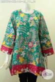 Pakaian Batik Wanita Gemuk, Busana Batik Modern Terkini, Blus Keren Tanpa Krah Kwalitas Istimewa Dengan Harga Biasa [BLS7770P-XXL]