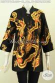 Baju Batik Modern Wanita Terbaru 2017, Blus Kerah Shanghai Istimewa Buatan Solo Asli Proses Tulis Motif Cendrawasih Harga 220K [BLS7787T-XL]