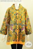Blus Batik Motif Bunga, Baju Batik Printing Elegan Desain Pakai Krah Kwalitas Bagus, Ukuran Jumbo Pas Buat Wanita Gemuk [BLS7803P-XXL]
