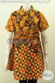 Baju Batik Atasan Wanita Terbaru 2020, Blus Kerah Shanghai Elegan Bahan Halus Proses Printing Motif Berkelas Lengan Pendek Hanya 130K [BLS7843P-M]