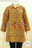 Batik Blus Solo Klasik, Baju Batik Model Terkini Bahan Halus Kwalitas Istimewa Hanya 130 Ribu, Cocok Buat Acara Resmi [BLS7899P-L]