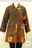 Baju Blus Batik Klasik Motif Truntum Boh Jeruk, Pakaian Batik Elegan Pakai Krah, Pas Banget Untuk Acara Resmi [BLS7901P-XL]