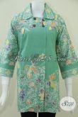 Blus BAtik Wanita Model Terkini Dan Motif Batik Elegan Asli Buatan Batik Solo-Jawa [BLS821C-L]