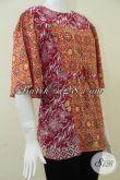 Model Baju Batik Wanita Yang Nyaman Dipakai,Model Batik Simple Untuk Wanita Karir [BLS862C-M]
