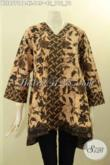 Model Baju Batik Kutubaru Nan Elegan Dan Bagus, Blouse Batik Solo Asli Lengan 7/8 Motif Kekinian Proses Printing Cabut, Menunjang Penampilan Lebih Istimewa [BLS8771PB-XL]