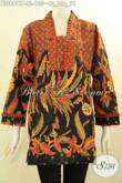 Model Baju Batik Solo Istimewa Pilihan Terbaik Untuk Wanita Tampil Elegan Dan Mempesona, Blouse Batik Kutubaru Lengan 7/8 Kwalitas Istimewa Khas Jawa Tengah Hanya 135K [BLS8811P-XL]