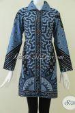 Pakaian BAtik Tulis Wanita Kombinasi Warna Biru Dan Hitam [BLS916T-L]