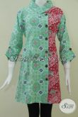 Dress Batik Warna Cerah,Batik Model Sederhana Tapi Terlihat Istimewa [DR110C-L]