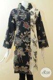 Dress Batik Jumbo Proses Kombinasi Tulis, Pakaian Batik Ukuran Besar Untuk Wanita Gemuk Bisa Tampil Modis Dan Bergaya [DR2938BT-XXL]