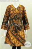 Baju Dress Batik Lawasan Tiga Motif, Produk Pakaian Batik Istimewa Desain Berkelas Proses Printing Penunjang Penampilan Lebih Cantik Dan Elegan [DR6069P-L]