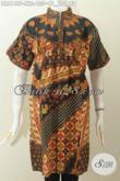 Jual Produk Pakaian Batik Modis Dan Elegan, Dress Batik Kerah Shanghai Wanita Dewasa Bahan Halus Lengan Pendek Harga 135K [DR6149P-XL]