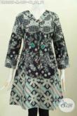 Busana Batik Keren Motif Bagus Kwalitas Istimewa Harga Biasa, Dress Kerah V Untuk Penampilan Lebih Bergaya [DR6255P-M]