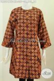 Busana Batik Klasik Khas Jawa Tengah, Pakaian Batik Elegan Proses Kombinasi Tulis Desain Tanpa Krah Full Furing, Cocok Untuk Seragam Kantor [DR6294BTF-All Size]
