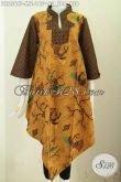Produk Dress Batik Kerah Shanghai Kotak , Baju Batik Printing Istimewa Motif Klasik Harga 165K [DR6566P-M]