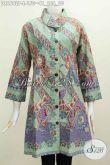 Online Shop Pakaian Paling Paling Lengkap, Sedia Dress Batik Berkelas Kerah Miring Motif Bagus Proses Printing Di Jual Online 150K [DR6602P-L]