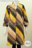 Dress Batik Klasik Buatan Solo Kancing Banyak, Foto Baju Batik Wanita 2017 Referensi Busana Berkelas Dengan Harga Terjangkau [DR6903P-M]