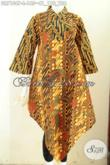 Batik Dress Solo Model 2020, Baju Batik Kerja Dan Pesta Wanita Masa Kini Harga 165K [DR7104P-L]