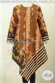 Baju Batik Trendy Nan Elegan Kwalitas Bagus Model Taplak Pakai Resleting Belakang Kwalitas Istimewa Proses Printing, Tampil Modis Dan Keren [DR7123P-XL]