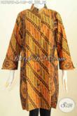 Baju Dress Kerah Shanghai Elegan Motif Klasik Kombiasi Dua Warna, Baju Batik Printing Berkelas Tampil Mewah Dengan Harga Murah [DR7259P-M]