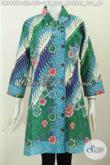 Baju Batik Wanita Muda Dan Dewasa Size XL, Dress Kerah Miring Motif Bagus Proses Printing, Tampil Makin Gaya [DR7449P-XL]