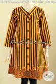Olshop Busana Batik Wanita Paling Up To Date, Sedia Dress Kerah V Motif Klasik Bahan Halus Proses Printing Hanya 145K [DR7603P-M]