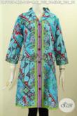 Jual Online Batik Dress Istimewa, Produk Baju Batik Solo Elegan Berkelas Bahan Adem Proses Printing Motif Unik 140 Ribu Saja [DR7993P-M]