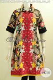 Model Baju Batik Terbaru, Aneka Busana Batik Dress Wanita Muda Dan Dewasa Buat Kerja Dan Pesta, Bahan Adem Kwalitas Istimewa Harga 150K [DR8115P-M]