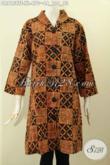 Model Baju Batik Terusan Untuk Wanita Karir, Dress Batik Elegan Motif Klasik Tulis Asli Daleman Full Furing Kwalitas Premium Harga 470K, Pas Buat Ngantor Dan Acara Resmi [DR8158TF-XL]