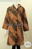 Model Baju Batik Mewah Untuk Wanita Gemuk, Dress Batik Premium Motif Tulis Asli Dengan Krah Shanghai Daleman Pake Furing, Di Jual Online 470 Ribu [DR8161TF-XXL]