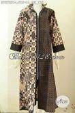 Gamis Batik Ukuran L, Long Dress Batik Abaya Desain Resleting Depan Nan Istimewa, Cocok Untuk Kerja Dan Acara Resmi [G7673BT-L]