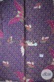 Kain Batik Halus Solo Motif Kupu Warna Ungu, Untuk Bahan Rok dan Blus Atasan [K1708P-200x105cm]