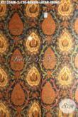 Batik Klasik Bokor Latar Ireng, Batik Jawa Tengah Etnik Proses Kombinasi Tulis Kwalitas Halus, Cocok Banget Buat Busana Formal Tampil Elegan [K2135AM-240x105cm]