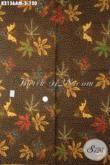Batik Kain Motif Trend Terbaru, Batik Solo Halus Bahan Baju Kerja Maupun Busana Kondangan Proses Kombinasi Tulis Harga 100 Ribuan [K2136AM-240x105cm]