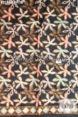 Batik Halus Dasar Hitam Motif Trend Terkini Cocok Untuk Blus Dan Kemeja, Batik Elegan Proses Cap Hanya 100 Ribuan [K2155C-200×105 cm]