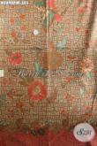 Jual Online Kain Batik Solo Halus Dan Motif Mewah, Batik Kombinasi Tulis Dengan Warna Berkelas, Cocok Untuk Baju Rapat Dan Busana Kerja [K2490PM-240x110cm]
