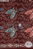 Kain Batik Halus Warna Merah Marun Motif Kupu Proses Cap Tulis, Di Jual Online 125K Bahan Pakaian Cewek Nan Modis [K2580CT-200x110cm]