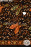 Batik Halus Motif Kupu, Batik Elegan Bahan Pakaian Pria Tampil Modis Dan Gaya Dengan Nuansa Klasik Proses Cap Tulis [K2589CT-200x110cm]