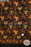 Kain Batik Motif Bunga Dan Kupu, Batik Cap Tulis Warna Klasik Nan Elegan Bahan Baju Wanita Untuk Terlihat Makin Mempesona [K2613CT-200x110cm]
