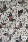 Batik Kain Motif Kupu, Batik Kombinasi Tulis Warna Trendy Produk Asli Solo Pas untuk Baju Santai [K2658BT-240x110cm]