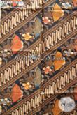 Jual Aneka Kain Batik Elegan Bahan Busana Istimewa, Batik Halus Proses Printing Pas Banget Untuk Baju Kerja Kantoran [K2760P-200x110cm]
