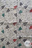 Bati Halus Motif Daun Talas, Batik Solo Istimewa Proses Kombinasi Tulis Bahan Pakaian Pria Dan Wanita Yang Elegan [K2802BT-240x110cm]